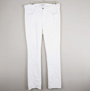 J. Brand | White Classic Straight Leg Pants - M4